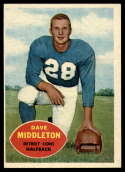 1960 Topps #43 Dave Middleton VG/EX Very Good/Excellent
