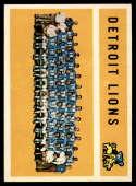 1960 Topps #50 Lions Team EX Excellent