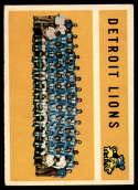 1960 Topps #50 Lions Team VG Very Good