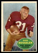 1960 Topps #124 Don Bosseler EX/NM