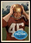 1960 Topps #129 Ralph Felton EX Excellent RC Rookie