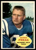 1960 Topps #6 George Preas VG Very Good RC Rookie