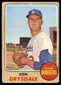 1968 Topps #145 Don Drysdale G Good