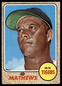 1968 Topps #58 Eddie Mathews VG Very Good