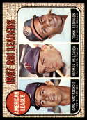 1968 Topps #4 Carl Yastrzemski/Harmon Killebrew/Frank Robinson A.L. RBI Leaders VG/EX Very Good/Excellent