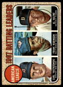 1968 Topps #2 Carl Yastrzemski/Frank Robinson/Al Kaline A.L. Batting Leaders G/VG Good/Very Good