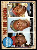 1968 Topps #3 Orlando Cepeda/Roberto Clemente/Hank Aaron N.L. RBI Leaders VG/EX Very Good/Excellent