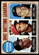 1968 Topps #1 Roberto Clemente/Tony Gonzalez/Matty Alou LL N.L. Batting Leaders EX Excellent