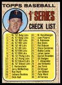 1968 Topps #67 Jim Kaat Checklist 1-109 NRMT o/c
