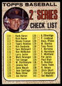 1968 Topps #107 Juan Marichal Checklist 110-196 EX/NM wide mesh