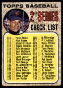 1968 Topps #107 Juan Marichal Checklist 110-196 G Good wide mesh