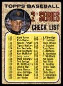 1968 Topps #107 Juan Marichal Checklist 110-196 VG Very Good wide mesh