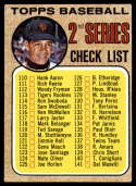 1968 Topps #107 Juan Marichal Checklist 110-196 EX Excellent tight mesh