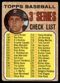 1968 Topps #192 Carl Yastrzemski Checklist 197-283 ERR VG Very Good