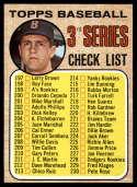 1968 Topps #192 Carl Yastrzemski Checklist 197-283 ERR EX/NM