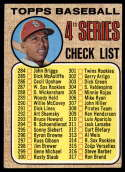 1968 Topps #278 Orlando Cepeda Checklist 284-370 VG/EX Very Good/Excellent