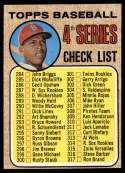 1968 Topps #278 Orlando Cepeda Checklist 284-370 EX/NM