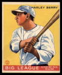 1933 Goudey #184 Charlie Berry VG/EX Very Good/Excellent RC Rookie