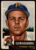 1953 Topps #8 Clem Koshorek DP VG Very Good