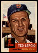 1953 Topps #18 Ted Lepcio DP EX Excellent