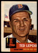 1953 Topps #18 Ted Lepcio DP VG Very Good