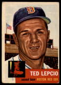 1953 Topps #18 Ted Lepcio DP VG/EX Very Good/Excellent