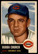 1953 Topps #47 Bubba Church DP EX Excellent
