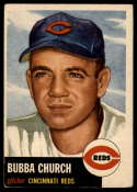 1953 Topps #47 Bubba Church DP VG/EX Very Good/Excellent