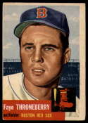 1953 Topps #49 Faye Throneberry DP VG Very Good