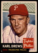 1953 Topps #59 Karl Drews DP VG/EX Very Good/Excellent
