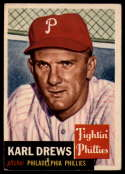 1953 Topps #59 Karl Drews DP VG Very Good