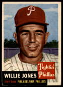 1953 Topps #88 Willie Jones DP VG/EX Very Good/Excellent