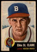 1953 Topps #91 Ebba St. Claire DP VG Very Good