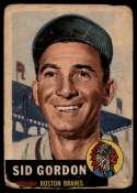 1953 Topps #117 Sid Gordon DP G Good