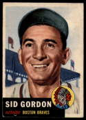 1953 Topps #117 Sid Gordon DP EX Excellent