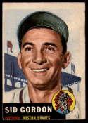 1953 Topps #117 Sid Gordon DP VG Very Good