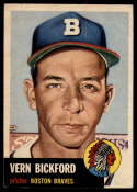 1953 Topps #161 Vern Bickford DP VG/EX Very Good/Excellent