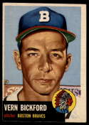1953 Topps #161 Vern Bickford DP EX Excellent