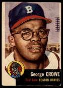 1953 Topps #3 George Crowe UER VG Very Good