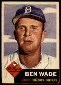 1953 Topps #4 Ben Wade VG/EX Very Good/Excellent