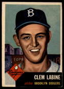 1953 Topps #14 Clem Labine DP VG Very Good