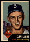 1953 Topps #14 Clem Labine DP G/VG Good/Very Good