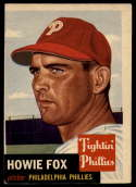 1953 Topps #22 Howie Fox VG Very Good