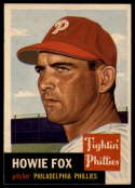 1953 Topps #22 Howie Fox EX Excellent