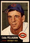 1953 Topps #28 Eddie Pellagrini EX Excellent