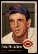 1953 Topps #28 Eddie Pellagrini VG/EX Very Good/Excellent