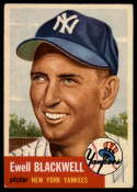 1953 Topps #31 Ewell Blackwell EX Excellent
