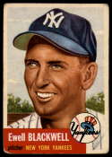 1953 Topps #31 Ewell Blackwell VG Very Good