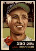 1953 Topps #34 George Shuba VG Very Good