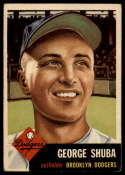 1953 Topps #34 George Shuba VG/EX Very Good/Excellent